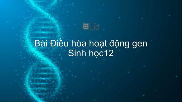 Sinh học 12 Bài 3: Điều hòa hoạt động gen