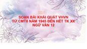 Soạn bài Khái quát văn học Việt Nam từ CMT8 năm 1945 đến hết thế kỉ XX Ngữ Văn 12 siêu ngắn