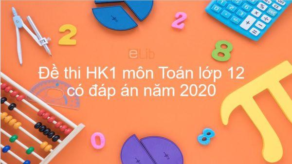 Đề thi HK1 môn Toán 12 năm 2019 có đáp án