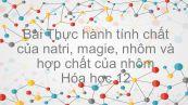 Hóa học 12 Bài 30: Thực hành Tính chất của natri, magie, nhôm và hợp chất của chúng