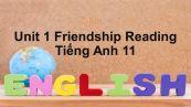 Unit 1: Friendship-Reading