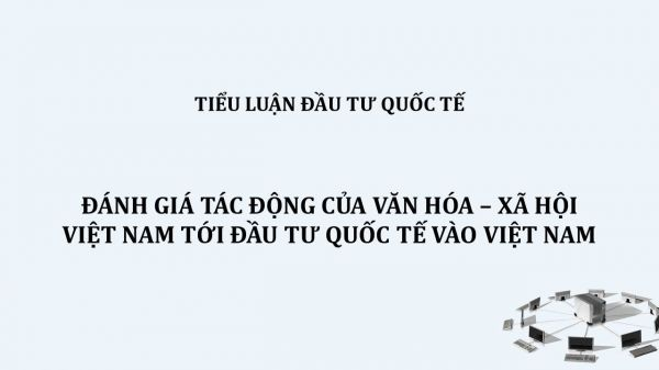 Đánh giá tác động của văn hóa – xã hội Việt Nam tới đầu tư quốc tế vào Việt Nam