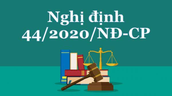 Nghị định 44/2020/NĐ-CP về cưỡng chế thi hành án đối với pháp nhân thương mại