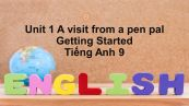 Unit 1 lớp 9: A visit from a pen pal-Getting Started