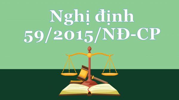 Nghị định 59/2015/NĐ-CP về quản lý dự án đầu tư xây dựng