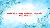 Phân tích đoạn 1 bài thơ Việt Bắc