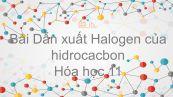 Hoá học 11 Bài 39: Dẫn xuất halogen của hiđrocacbon