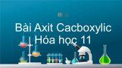 Hoá học 11 Bài 45: Axit cacboxylic