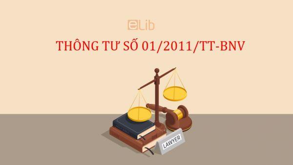 Thông tư số 01/2011/TT-BNV hướng dẫn thể thức và kỹ thuật trình bày văn bản hành chính