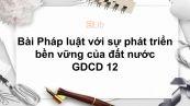 GDCD 12 Bài 9: Pháp luật với sự phát triển bền vững của đất nước