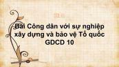 GDCD 10 Bài 14: Công dân với sự nghiệp xây dựng và bảo vệ Tổ quốc
