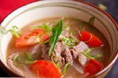 Cách nấu canh thịt bò cà chua