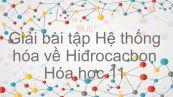 Giải bài tập SGK Hóa 11 Bài 38: Hệ thống hóa về hiđrocacbon