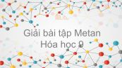 Giải bài tập SGK Hóa 9 Bài 36: Metan