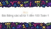 Toán 1 Chương 3 Bài: Bảng các số từ 1 đến 100