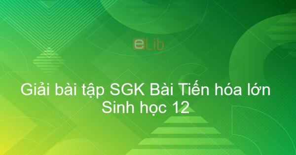 Giải bài tập SGK Sinh học 12 Bài 31: Tiến hóa lớn