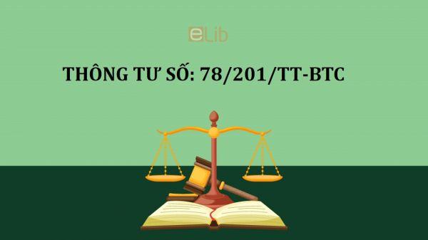 Thông tư 78/2014/TT-BTC hướng dẫn thi hành luật thuế thu nhập doanh nghiệp