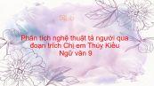 Phân tích nghệ thuật tả người của Nguyễn Du qua đoạn trích Chị em Thúy Kiều