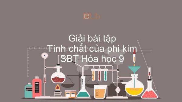 Giải bài tập SBT Hóa 9 Bài 25: Tính chất của phi kim