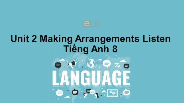 Unit 2 lớp 8: Making Arrangements-Listen