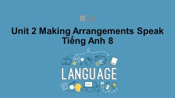 Unit 2 lớp 8: Making Arrangements-Speak