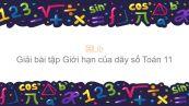 Giải bài tập SGK Toán 11 Chương 4 Bài 1: Giới hạn của dãy số