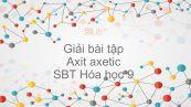 Giải bài tập SBT Hóa 9 Bài 45: Axit axetic