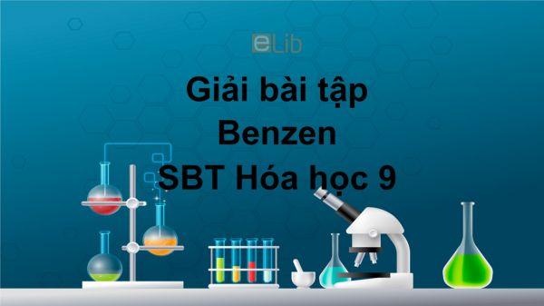 Giải bài tập SBT Hóa 9 Bài 39: Benzen