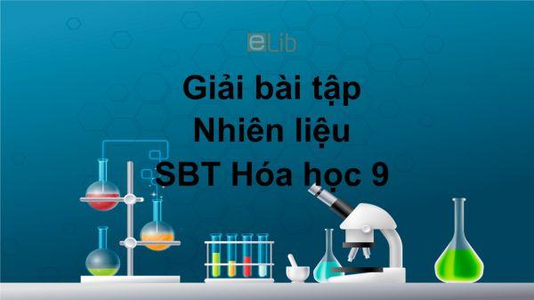 Giải bài tập SBT Hóa 9 Bài 41: Nhiên liệu