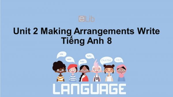 Unit 2 lớp 8: Making Arrangements-Write