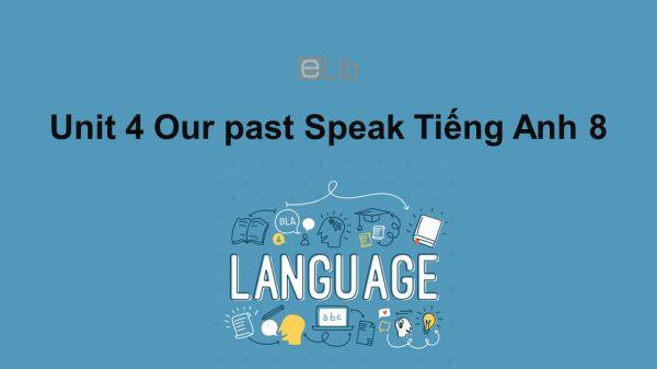 Unit 4 lớp 8: Our past-Speak
