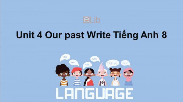 Unit 4 lớp 8: Our past-Write