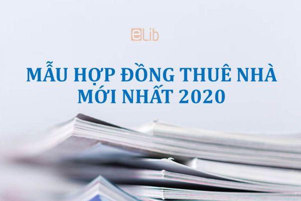 Mẫu hợp đồng thuê nhà mới nhất 2020