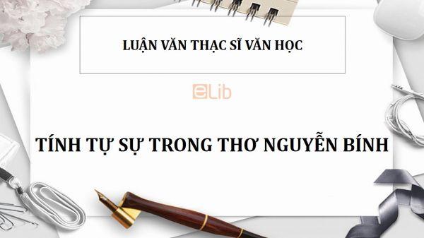Luận văn ThS: Tính tự sự trong thơ Nguyễn Bính
