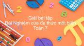 Giải bài tập SGK Toán 7 Bài 9: Nghiệm của đa thức một biến