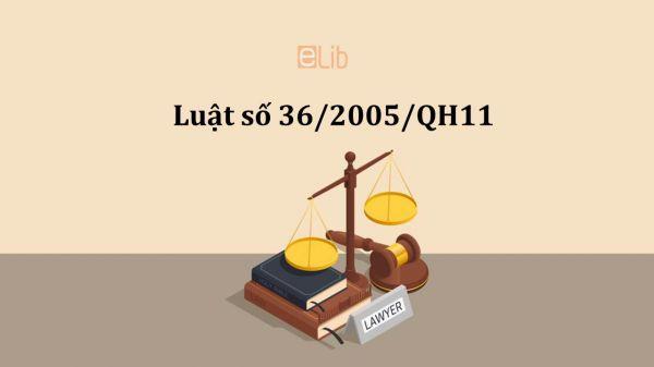 Luật thương mại số 36/2005/QH11