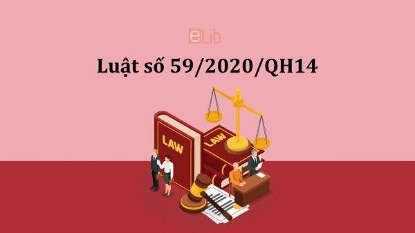 Luật doanh nghiệp năm 2020 số 59/2020/QH14