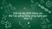 Giải bài tập SGK Sinh 12 Nâng cao Bài 25: Tạo giống bằng công nghệ gen