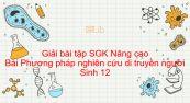 Giải bài tập SGK Sinh 12 Nâng cao Bài 27: Phương pháp nghiên cứu di truyền người