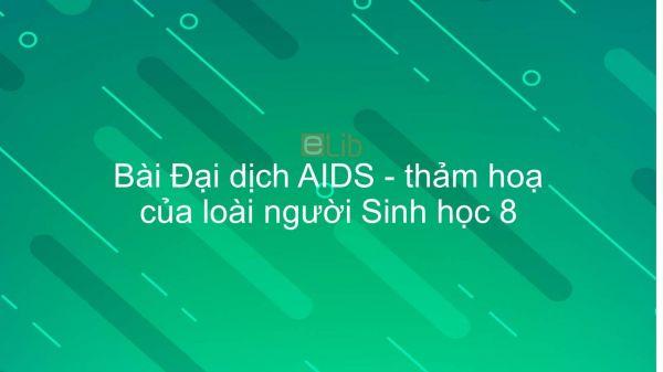 Sinh học 8 Bài 65: Đại dịch AIDS - thảm hoạ của loài người