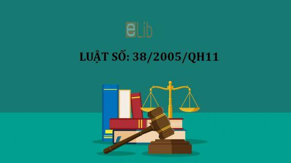 Luật giáo dục của quốc hội nước Cộng hòa Xã hội Chủ nghĩa Việt Nam số 38/2005/QH11