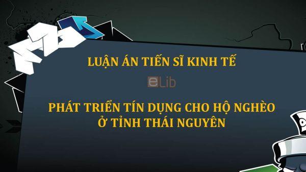Luận án TS: Phát triển tín dụng cho hộ nghèo ở tỉnh Thái Nguyên