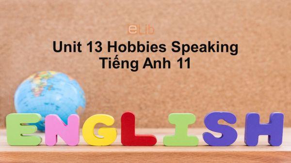 Unit 13 lớp 11: Hobbies-Speaking