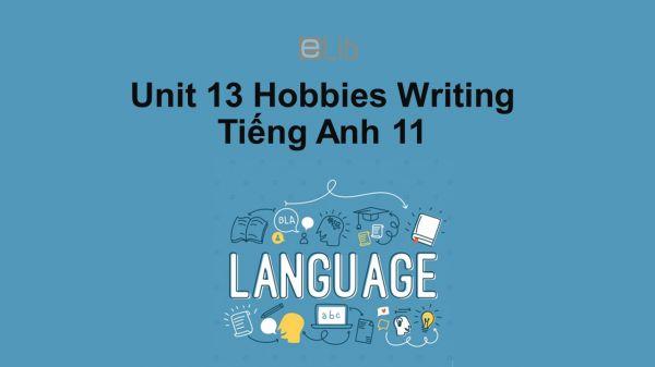 Unit 13 lớp 11: Hobbies-Writing