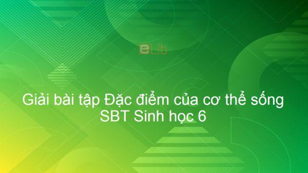Giải bài tập SBT Sinh 6 Bài 1: Đặc điểm của cơ thể sống