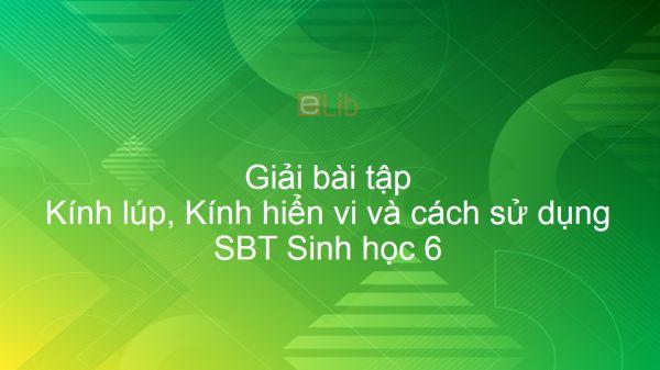 Giải SBT Sinh 6 Bài 5: Kính lúp, Kính hiển vi và cách sử dụng