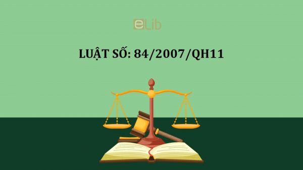 Luật sửa đổi, bổ sung điều 73 của bộ luật lao động số 84/2007/QH11