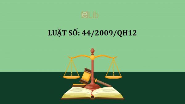 Luật sửa đổi, bổ sung một số điều của luật giáo dục số 44/2009/QH12