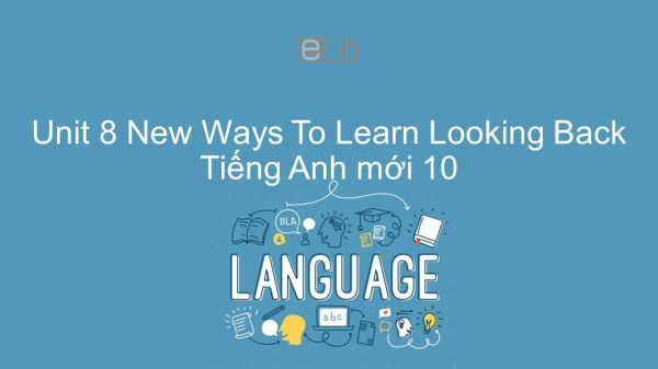 Unit 8 lớp 10: New Ways To Learn - Looking Back