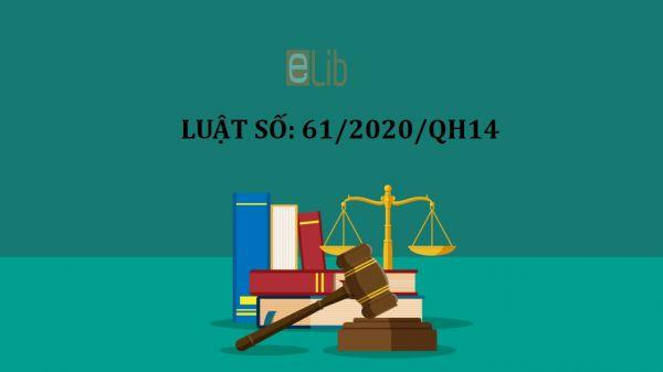 Luật đầu tư số 61/2020/QH14